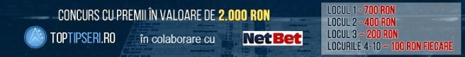 Concurs de pariuri Netbet cu premii în valoare de 2.000 RON