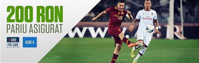 Pariu Asigurat 200 RON: AS Roma - AC Milan