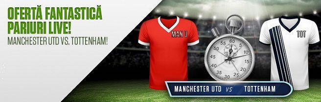 40 RON FREEBET: Manchester Utd vs Tottenham!