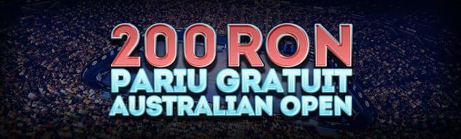 Câștigă pariuri gratuite la meciurile din Australian Open