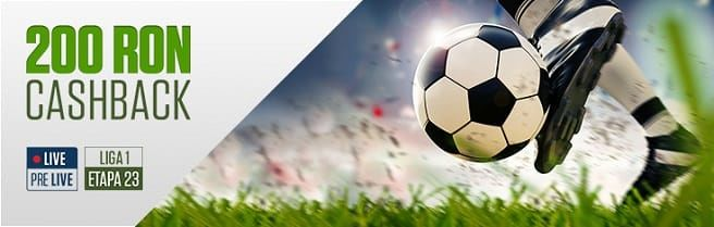 200 RON CASHBACK pentru meciurile din Liga 1