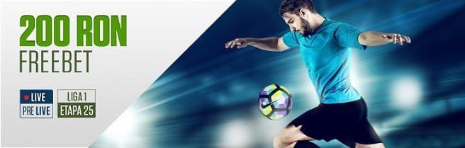 200 RON FREEBET - Goluri în Liga 1