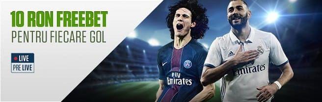 NetBet iti ofera 10 RON fiecare GOL marcat in Champions League