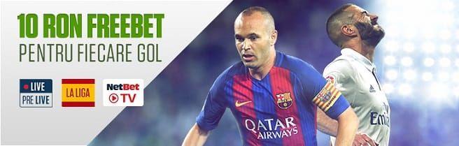 Primești 10 RON pentru fiecare gol marcat în La Liga