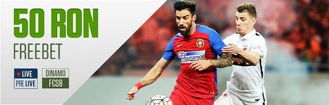 Dinamo vs. FCSB - 50 RON FREEBET