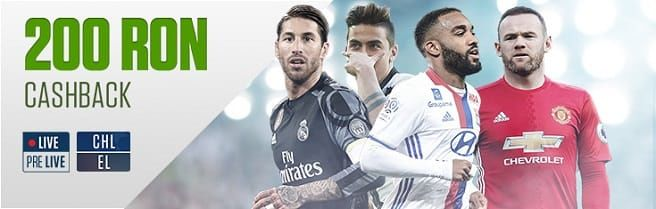 200 RON - Champions League & Europa League