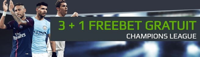 NetBet îți oferă 3 + 1 FREEBET gratuit în Champions League