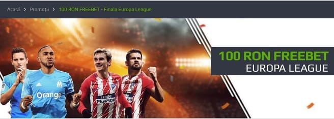 100 RON FREEBET - Finala Europa League