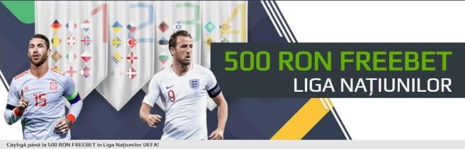 Câștigă până la 500 RON FREEBET în Nations League UEFA!