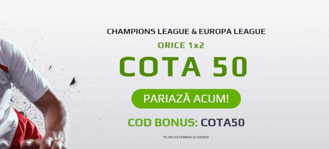 Cota 50 pentru Champions League si Europa League